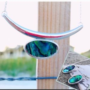 Jewelry - SET! Abalone Statement necklace & earrings